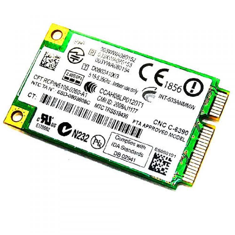 intel wifi link 5300 agn mini pci-e wireless card