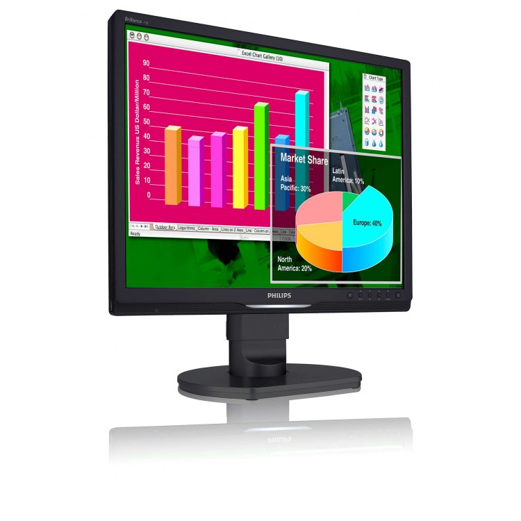 Monitor Philips 19B1 LCD, 19 inch, 1280 x 1024, 5 ms, 16.7 milioane, VGA, DVI, USB