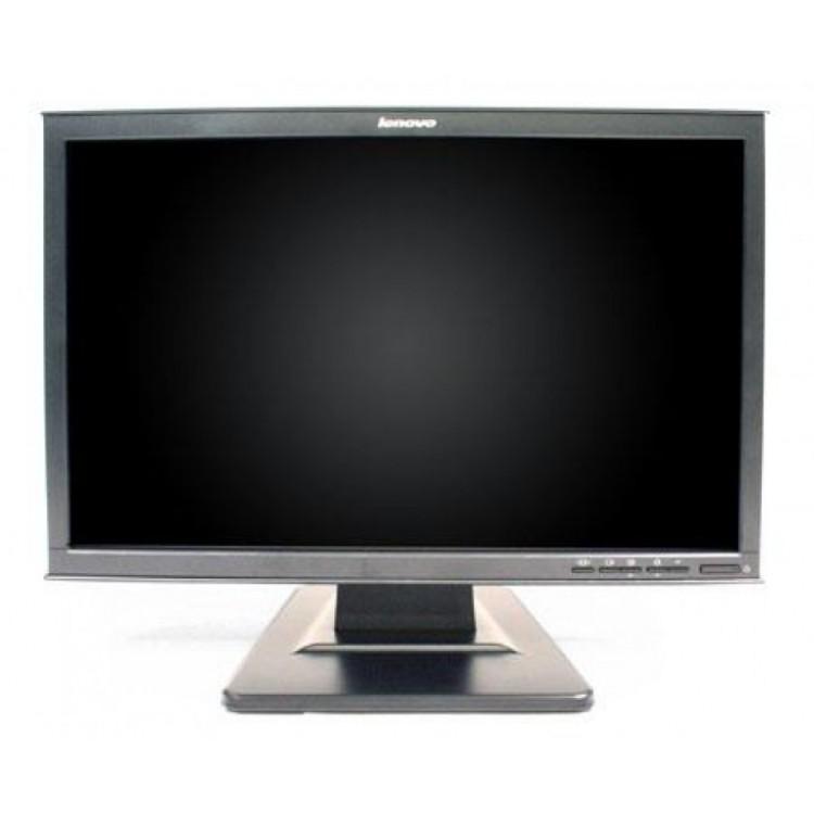 monitor lenovo d221, lcd, 22 inch, 1680 x 1050, vga, dvi, widescreen, grad a-, fara picior
