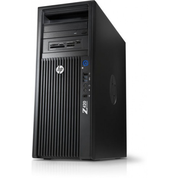 Workstation HP Z420, CPU Intel Xeon E5-2620 V2 2.10GHz-2.60GHz HEXA Core, 8GB DDR3 ECC, 500GB HDD, nVidia Quadro FX 580/512MB GDDR3