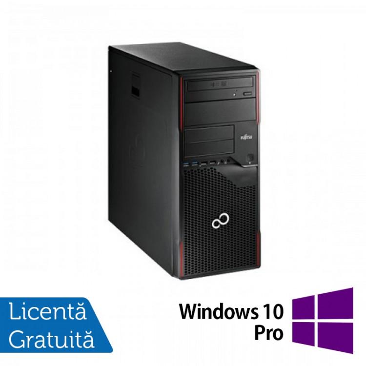 Calculator FUJITSU SIEMENS Esprimo P700 Tower, Intel Pentium G840 2.80GHz, 4GB DDR3, 250GB SATA, DVD-ROM + Windows 10 Pro