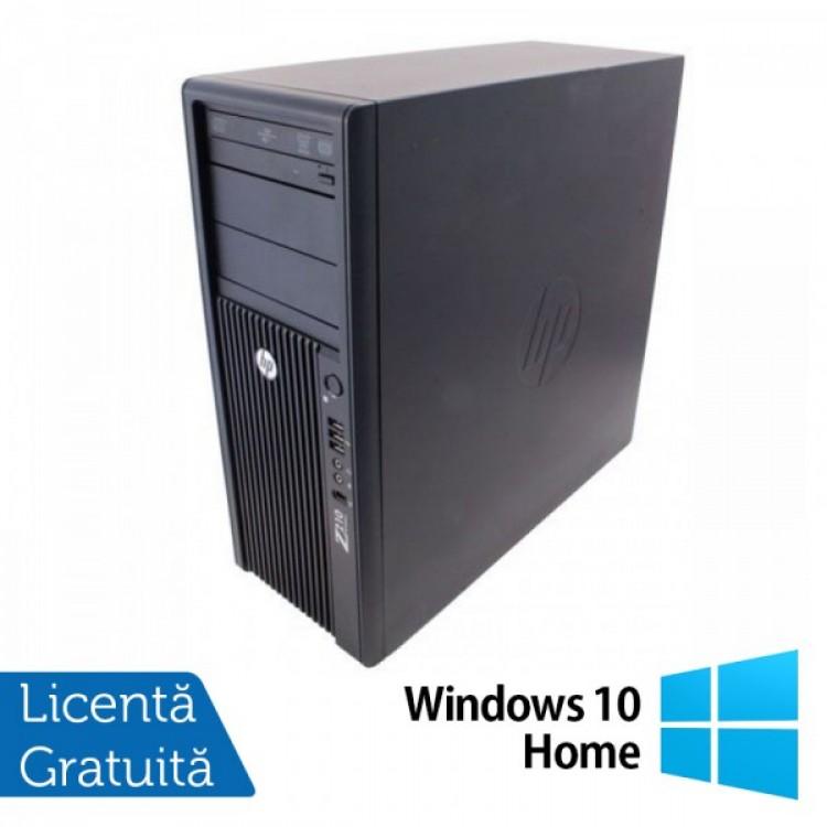 Workstation Refurbished HP Z210, Intel Xeon Quad core E3-1240, 3.3 Ghz-3.70GHz, 8GB DDR3, 500GB HDD, DVD-ROM, GeForce GT 605 1GB + Windows 10 Home