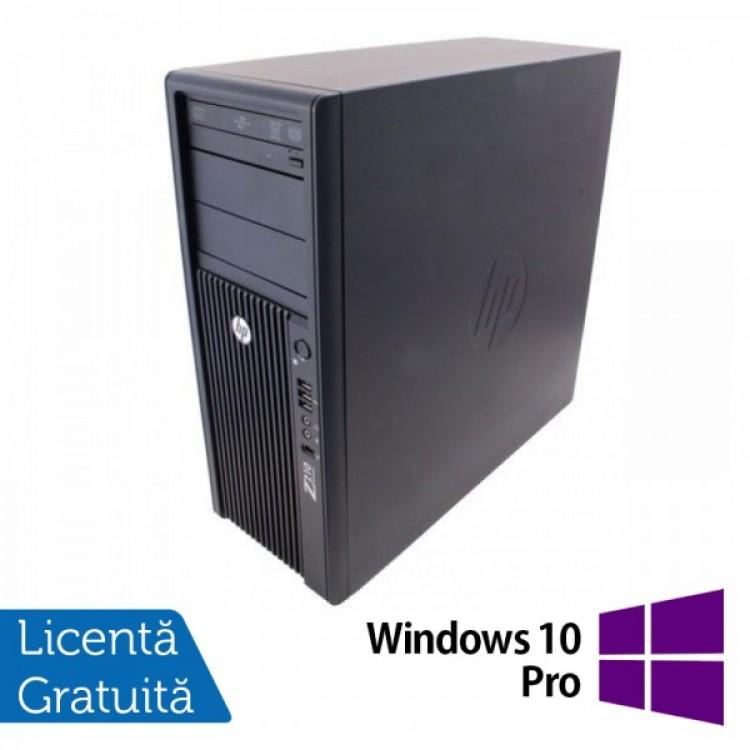 Workstation Refurbished HP Z210, Intel Xeon Quad core E3-1240, 3.3 Ghz-3.70GHz, 16GB DDR3, 240GB SSD + 1TB HDD + 2TB HDD, DVD-ROM, nVidia Quadro 4000/2GB + Windows 10 Pro