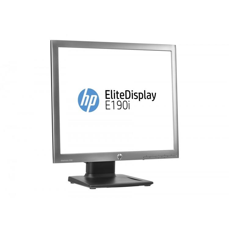 Monitor HP EliteDisplay E190i, LED Backlit, IPS, 19 inch, 1280 x 1024, 5ms, VGA, DisplayPort, USB, 16 milioane culori