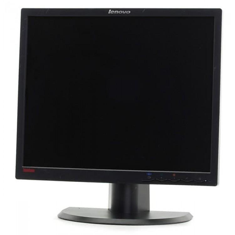 Monitor Lenovo ThinkVision L1900PA, LCD, 19 inch, 1280 x 1024, 5ms, VGA, DVI, Fara picior, Grad B