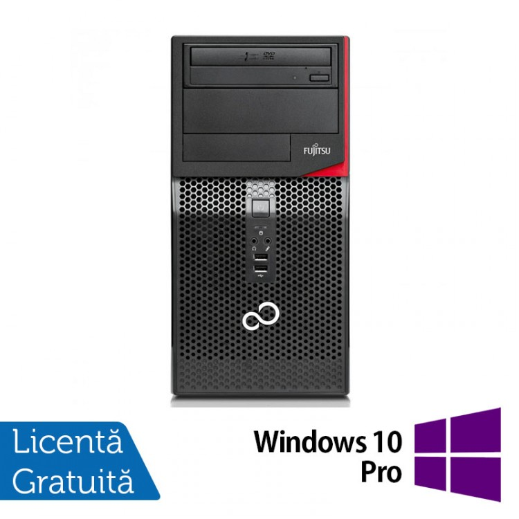 Calculator FUJITSU SIEMENS P410, Intel Core i3-3220 3.30GHz, 8GB DDR3, 500GB SATA, DVD-RW + Windows 10 Pro