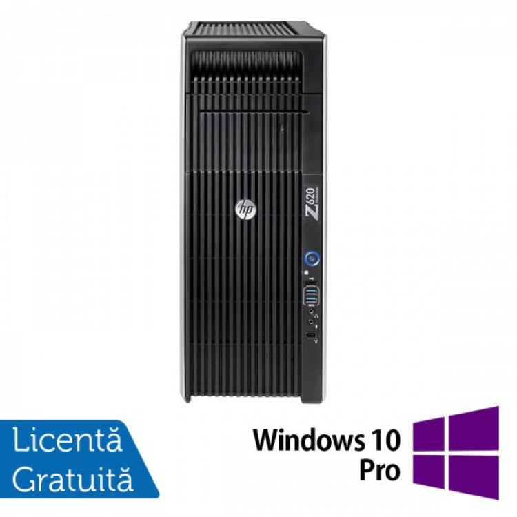 Workstation Refurbished HP Z620, 2x Intel Xeon E5-2620 2.00GHz-2.50GHz HEXA Core, 32GB DDR3 ECC, 2TB HDD + 240GB SSD NOU, nVidia Quadro 4000/2GB GDDR5 + Windows 10 Pro