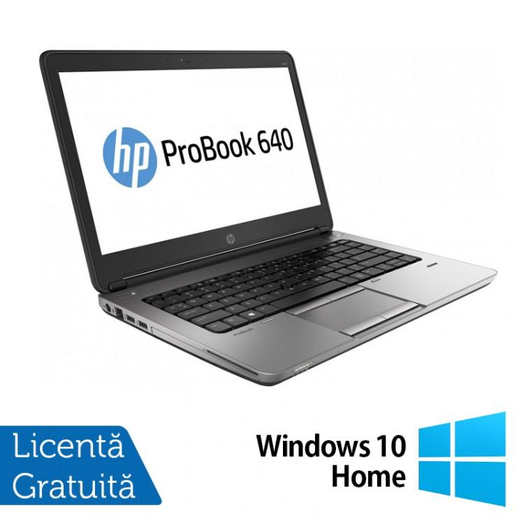 Laptop Refurbished HP ProBook 640 G1, Intel Core i5-4200M 2.50GHz, 4GB DDR3, 500GB SATA, Webcam, 14 inch + Windows 10 Home