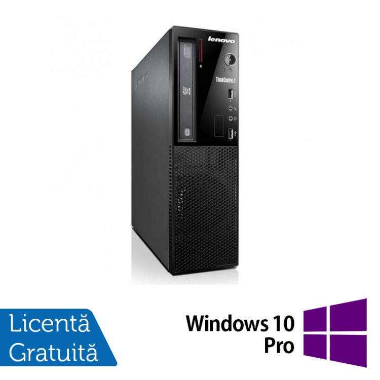 Calculator Lenovo Thinkcentre E73 Desktop, Intel Core i5-4430s 2.70GHz, 8GB DDR3, 500GB SATA, DVD-ROM + Windows 10 Pro