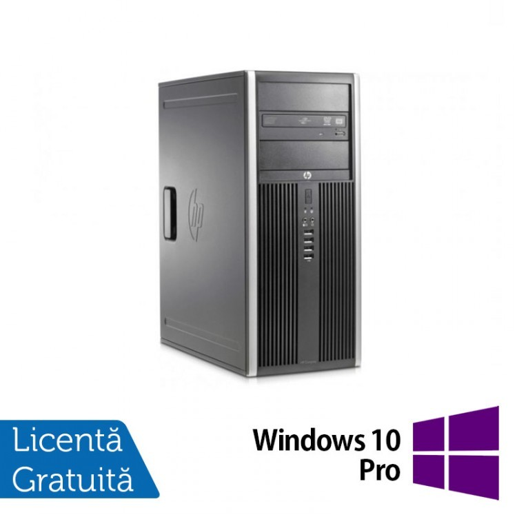 Calculator Refurbished HP 8200 Elite Tower, Intel Core i5-2400 3.10 GHz, 4GB DDR3, 250GB SATA, DVD-RW + Windows 10 Pro