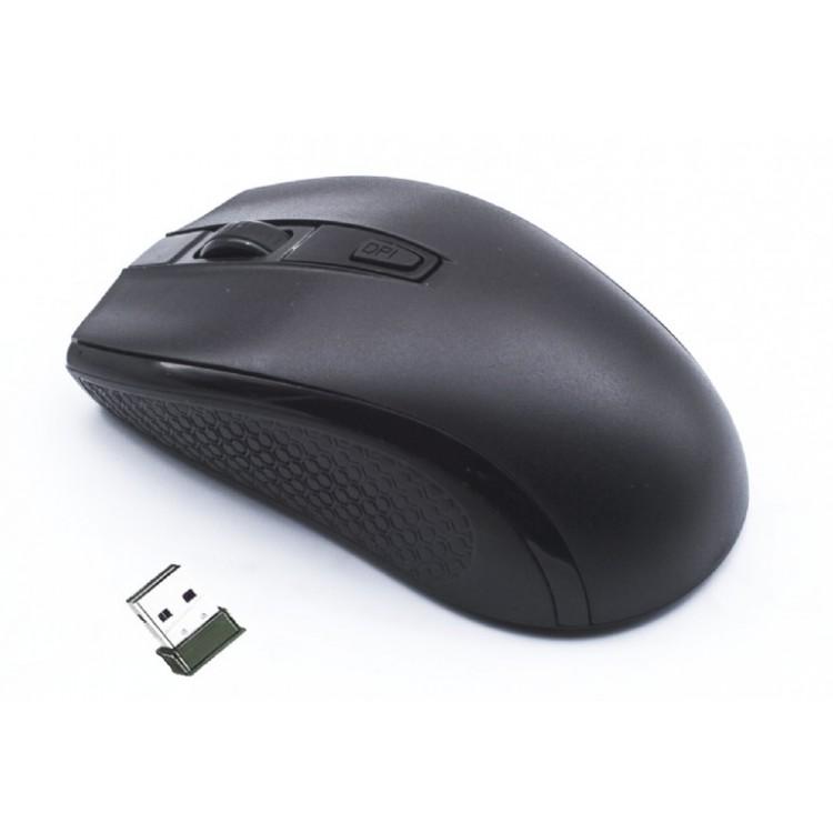 Mouse Optic Wireless MUSW-107, 1600 DPI, Nano-USB, Negru