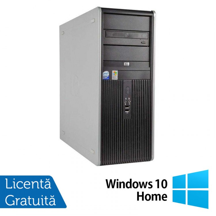 Calculator HP Compaq DC7900 Tower, Intel Core2 Duo E7500 2.93GHz, 4GB DDR2, 250GB SATA, DVD-ROM + Windows 10 Home