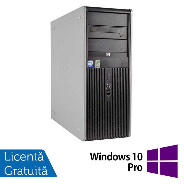 Calculator HP Compaq DC7900 Tower, Intel Core2 Duo E7500 2.93GHz, 4GB DDR2, 250GB SATA, DVD-ROM + Windows 10 Pro