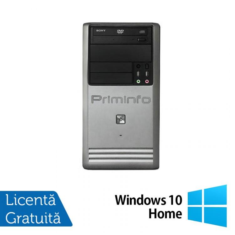 Calculator Priminfo Tower, Intel Core i5-3470, 8GB DDR3, 120GB SSD, DVD-ROM + Windows 10 Home