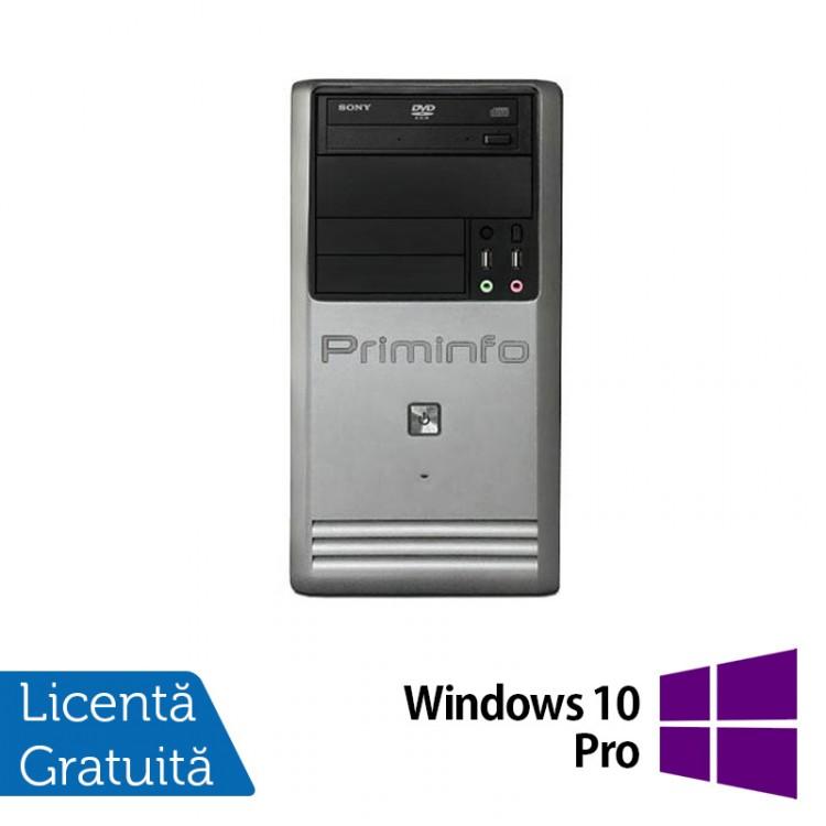 Calculator Priminfo Tower, Intel Core i5-3470, 8GB DDR3, 120GB SSD, DVD-ROM + Windows 10 Pro