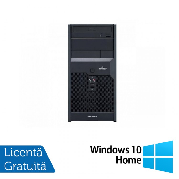 Calculator FUJITSU SIEMENS Esprimo P2560, Intel Pentium E5800 3.2 GHz, 2GB DDR3, 160GB SATA, DVD-ROM + Windows 10 Home