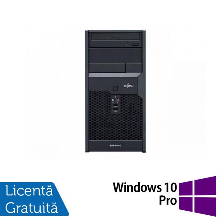 Calculator FUJITSU SIEMENS Esprimo P2560, Intel Pentium E5800 3.2 GHz, 2GB DDR3, 160GB SATA, DVD-ROM + Windows 10 Pro