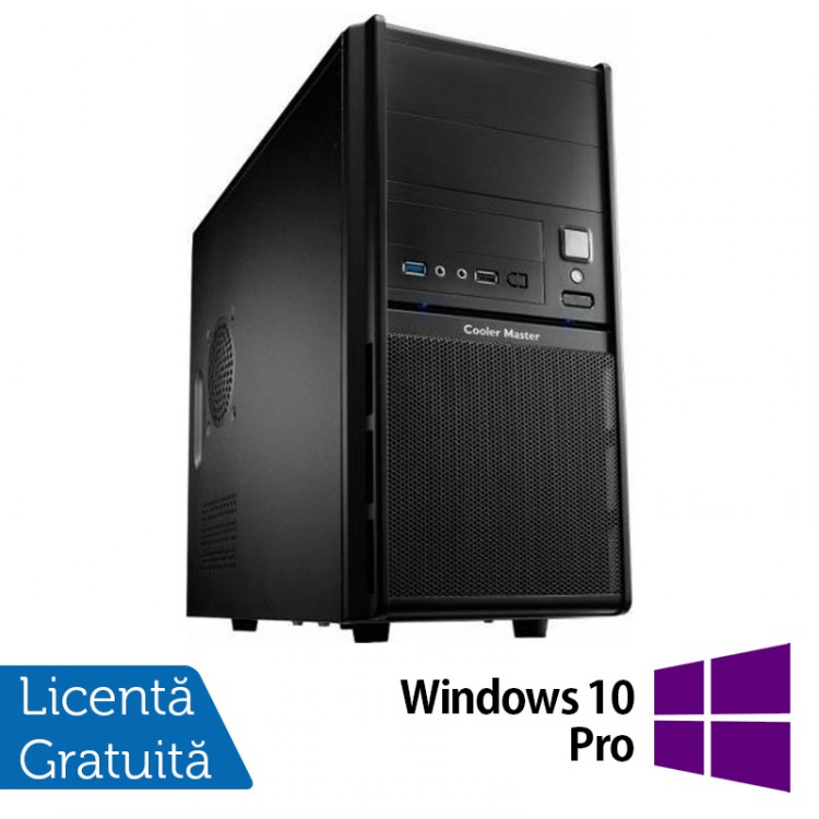 Calculator Cooler Master, Intel Core i5-4440 3.10GHz, 4GB DDR3, 500GB SATA, DVD-RW + Windows 10 Pro