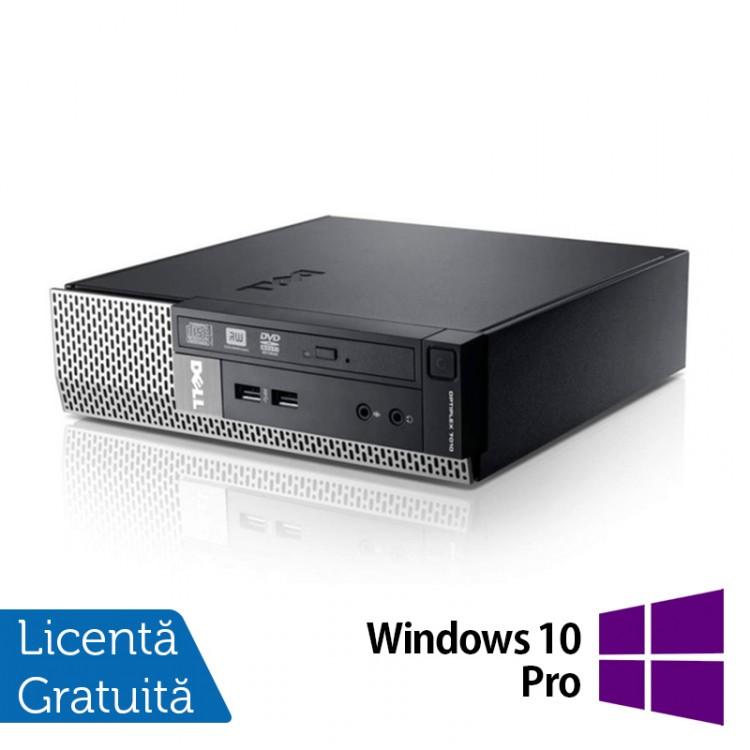Calculator Dell Optiplex 7010 USFF, Intel Core i5-3570S 3.10GHz, 8GB DDR3, 320GB SATA, DVD-RW + Windows 10 Pro