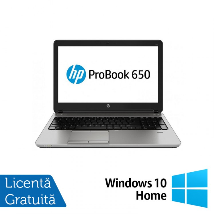 Laptop HP ProBook 650 G1, Intel Core i5-4200M 2.50GHz, 8GB DDR3, 320GB SATA, DVD-RW, 15 Inch + Windows 10 Home