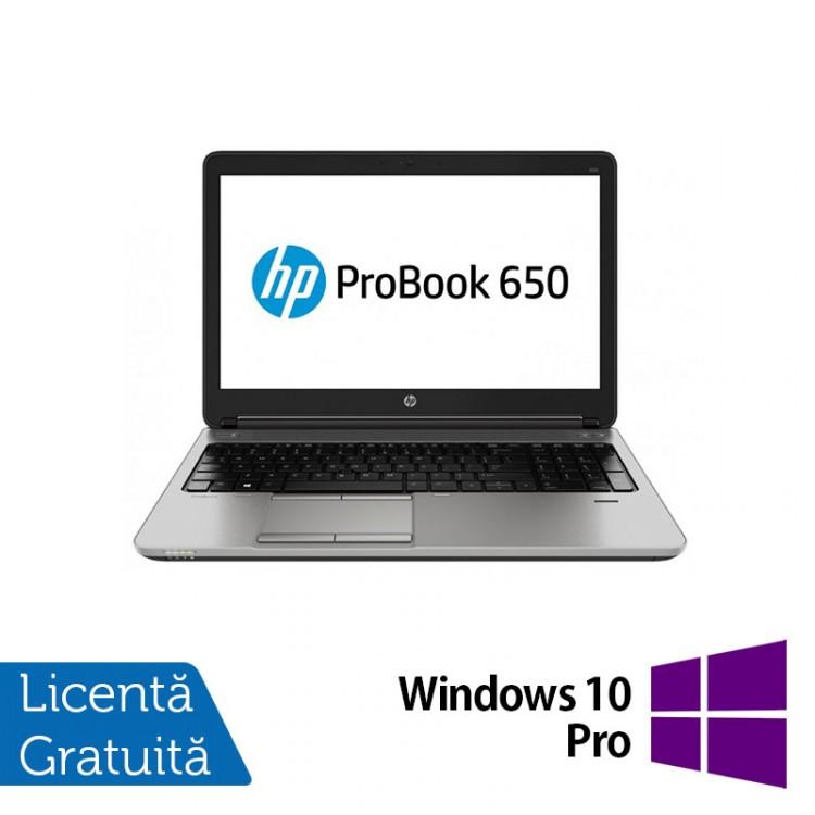 Laptop HP ProBook 650 G1, Intel Core i5-4200M 2.50GHz, 8GB DDR3, 320GB SATA, DVD-RW, 15 Inch + Windows 10 Pro