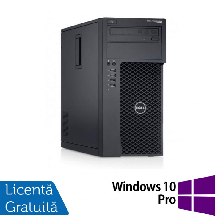 Workstation Dell Precision T1700, Intel Xeon Quad Core E3-1271 V3 3.60GHz - 4.00GHz, 16GB DDR3, 240GB SSD + 1TB SATA, nVidia Quadro K2000/2GB, DVD-RW + Windows 10 Pro