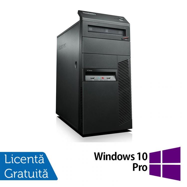 Calculator Lenovo Thinkcentre M91p Tower, Intel Core i7-2600 3.4GHz, 4GB DDR3, 120GB SSD, DVD-RW + Windows 10 Pro
