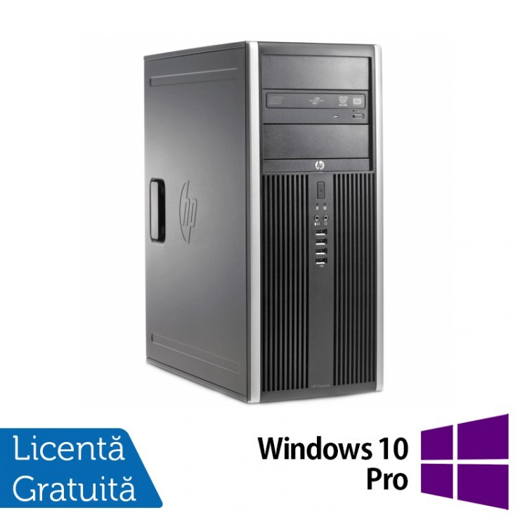 Calculator HP 6200 Pro Tower, Intel Core i7-2600 3.40GHz, 4GB DDR3, 320GB SATA, DVD-RW + Windows 10 Pro