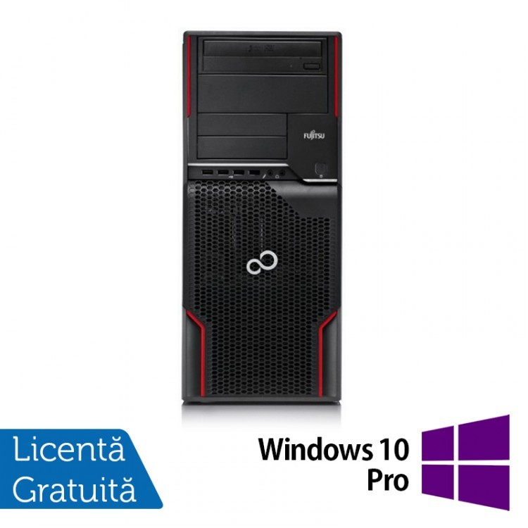 Workstation FUJITSU CELSIUS W510, Intel Core i5-2400S 2.5GHz, 4GB DDR3, 320GB SATA, DVD-ROM + Windows 10 Pro
