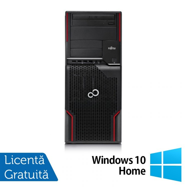 Workstation FUJITSU CELSIUS W510, Intel Core i5-2400S 2.5GHz, 8GB DDR3, 1TB SATA, Placa video Nvidia GT605/1GB, DVD-ROM + Windows 10 Home