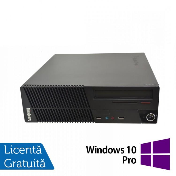 Calculator Lenovo ThinkCentre M71e SFF, Intel Pentium G630 2.70GHz, 4GB DDR3, 250GB SATA, DVD-RW + Windows 10 Pro
