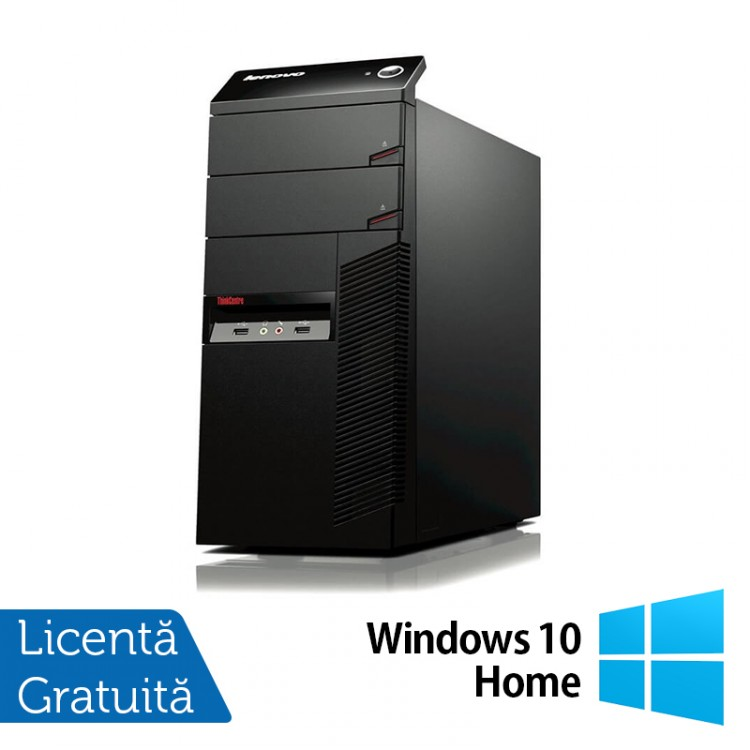 Calculator LENOVO ThinkCentre A58 Tower, Intel Core2 Quad Q6600 2.40GHz, 4GB DDR2, 320GB SATA, DVD-RW + Windows 10 Home