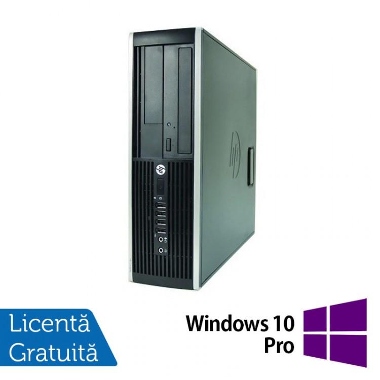 Computer HP Compaq Elite 8000 SFF, Intel Core 2 Duo E7500 2.93GHz, 2GB DDR3, 250GB SATA, DVD-RW + Windows 10 Pro