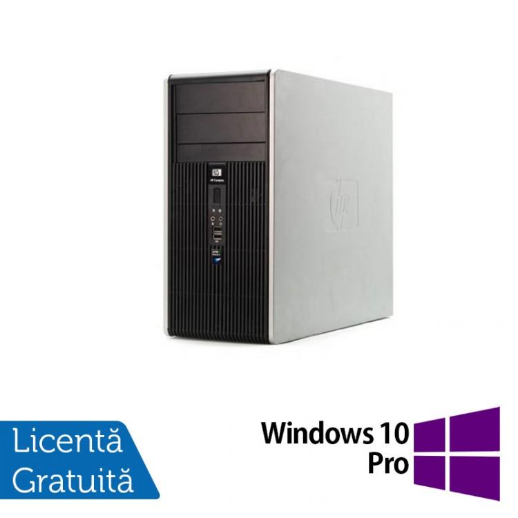 Calculator HP DC5700 Tower, Intel Core 2 Duo E4600, 4GB DDR2, 250GB SATA, DVD-ROM + Windows 10 Pro