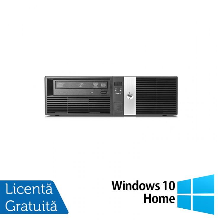Calculator HP RP5800 SFF, Intel Core i3-2120 3.30GHz, 4GB DDR3, 250GB SATA, DVD-RW, 2 Porturi Com + Windows 10 Home