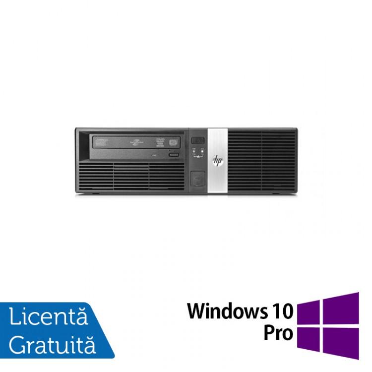 Calculator HP RP5800 SFF, Intel Core i3-2120 3.30GHz, 4GB DDR3, 250GB SATA, DVD-RW, 2 Porturi Com + Windows 10 Pro