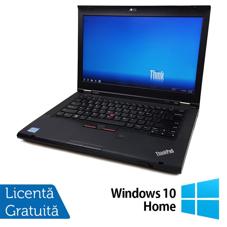 Laptop LENOVO ThinkPad T430, Intel Core i5-3320M 2.60GHz, 8GB DDR3, 320GB SATA, DVD-RW + Windows 10 Home