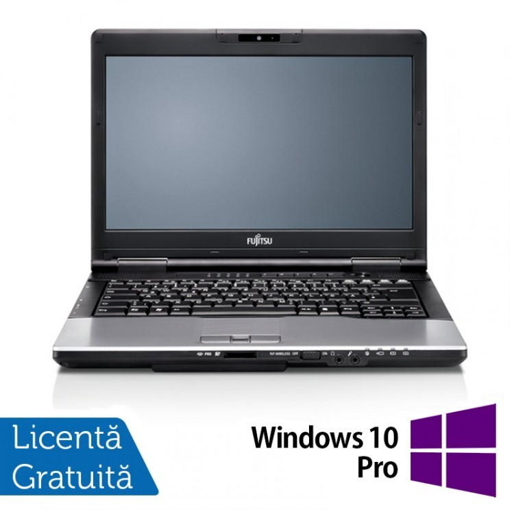 Laptop Fujitsu Lifebook S752, Intel Core i5-3230M 2.6GHz, 8GB DDR3, 500GB SATA, DVD-RW, 14 Inch + Windows 10 Pro