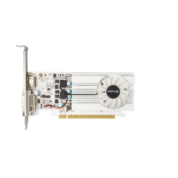 Placa video KFA2 GeForce GT 1030 EX White, 2GB DDR4, HDMI, DVI