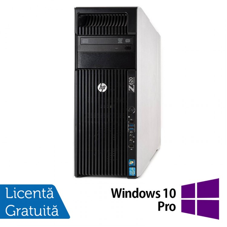 Workstation HP Z620, 1x Intel Xeon E5-1620 3.60GHz-3.80GHz Quad Core 10MB Cache, 32GB DDR3 ECC, 240GB SSD + 1TB HDD, nVidia Quadro 4000/2GB GDDR5 + Windows 10 Pro