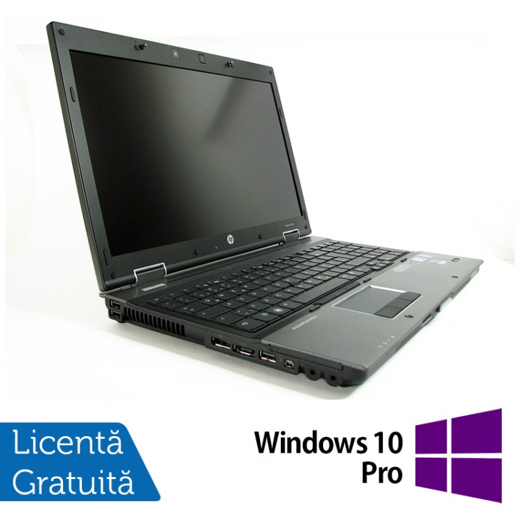 Laptop HP EliteBook 8540w Mobile Workstation, Intel Core i7-820QM 1.73GHz, 8GB DDR3, 320GB SATA, DVD-RW, 15.6 Inch, nVidia FX 880M + Windows 10 Pro