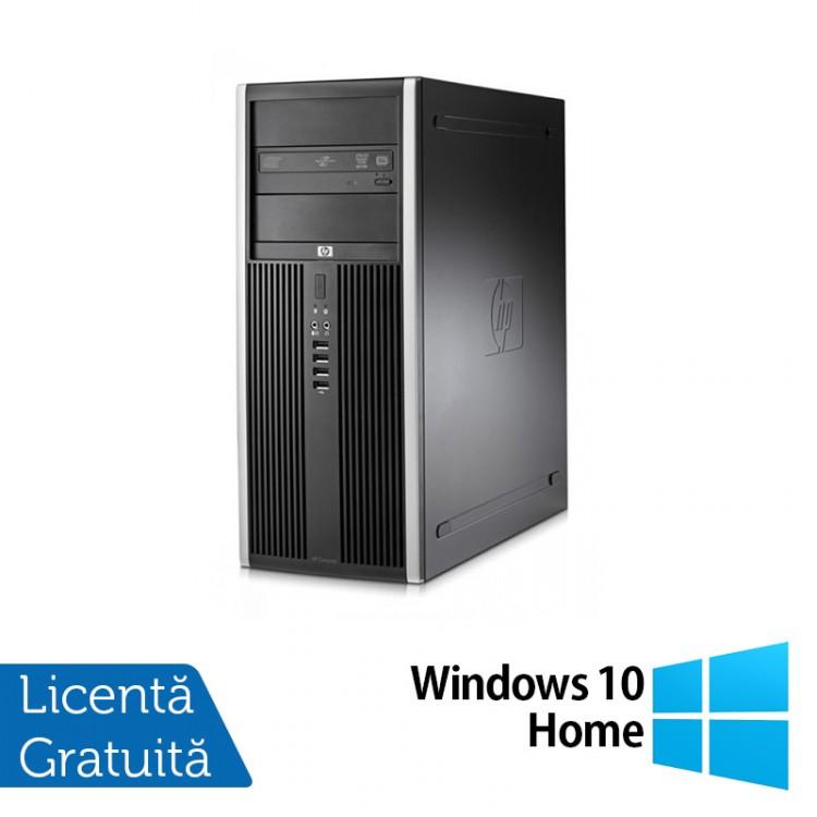 Calculator HP Compaq 8000 Elite Tower, Intel Core 2 Duo E7500 2.93GHz, 4GB DDR3, 250GB SATA, DVD-RW + Windows 10 Home