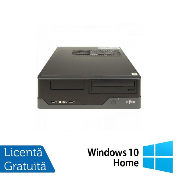 Calculator FUJITSU SIEMENS E400 SFF, Intel Core i3-2120 3.30GHz, 4GB DDR3, 250GB SATA, DVD-RW + Windows 10 Home