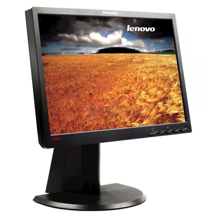 Monitor Lenovo ThinkVision L1940p LCD, 19 Inch, 1440 x 900, VGA, DVI, Grad A-, Fara picior