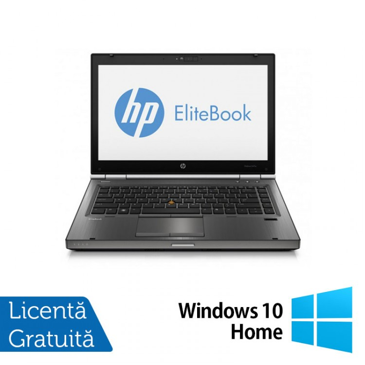 Laptop Refurbished HP EliteBook 8470p, Intel Core i5-3210M 2.50 GHz, 16GB DDR3, 500GB SATA, DVD-RW, 14 inch LED + Windows 10 Home