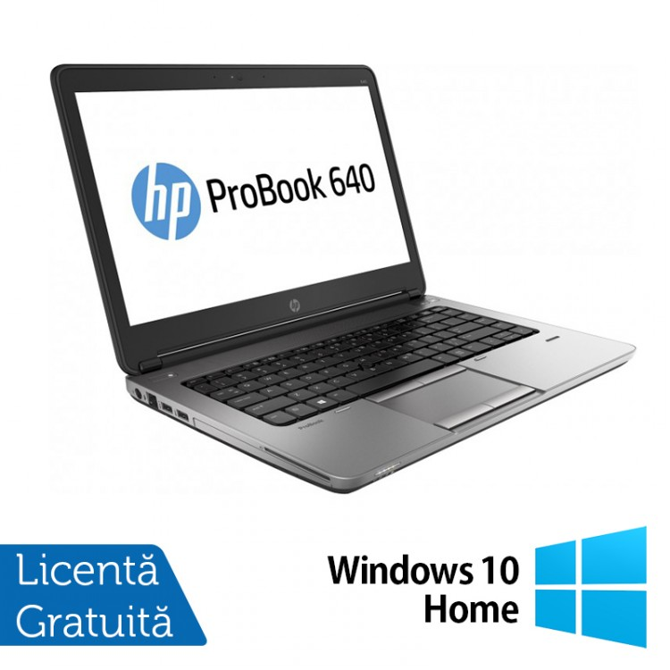 Laptop Refurbished HP ProBook 640 G1, Intel Core i5-4200M 2.50GHz, 16GB DDR3, 500GB SATA, Webcam, 14 inch + Windows 10 Home