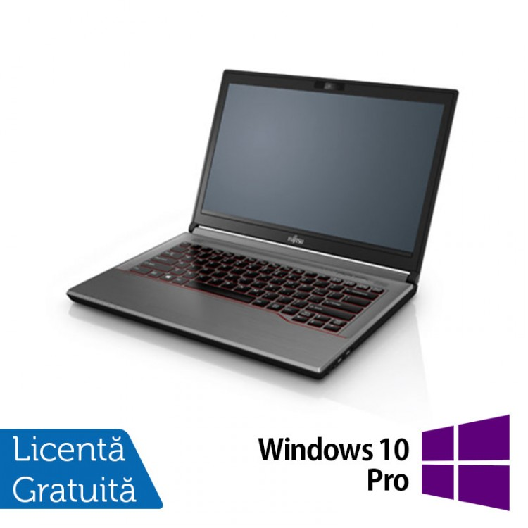 Laptop Fujitsu Lifebook E744, Intel Core i7-4702MQ 2.20GHz, 16GB DDR3, 320GB SATA, 14 Inch + Windows 10 Pro