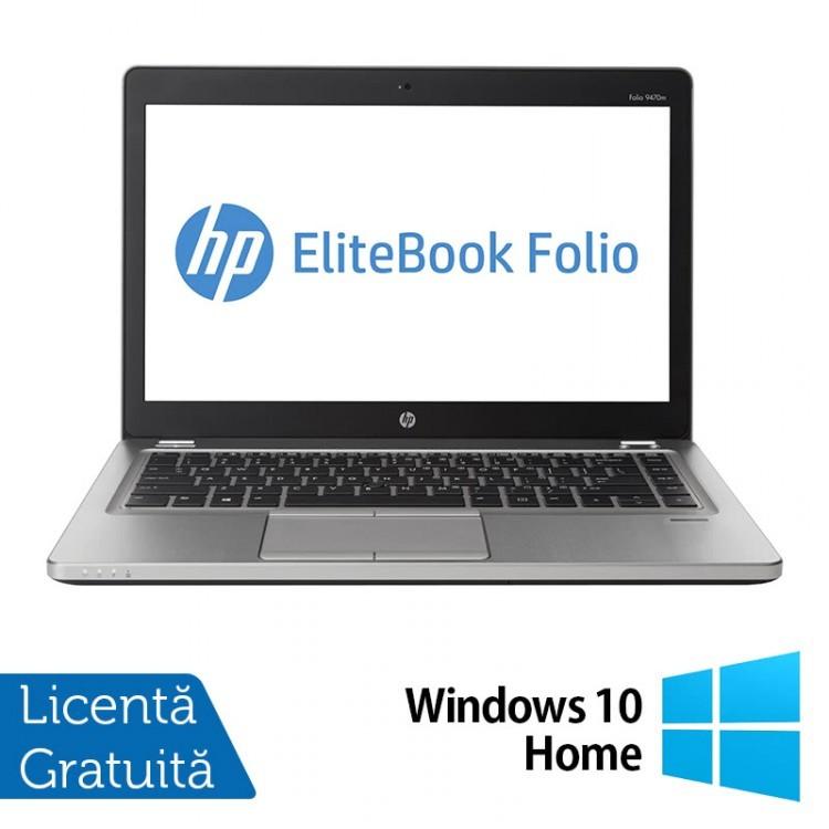 Laptop Refurbished HP EliteBook Folio 9470M, Intel Core i5-3337U 1.80GHz, 16GB DDR3, 120GB SSD, Webcam, 14 Inch + Windows 10 Home