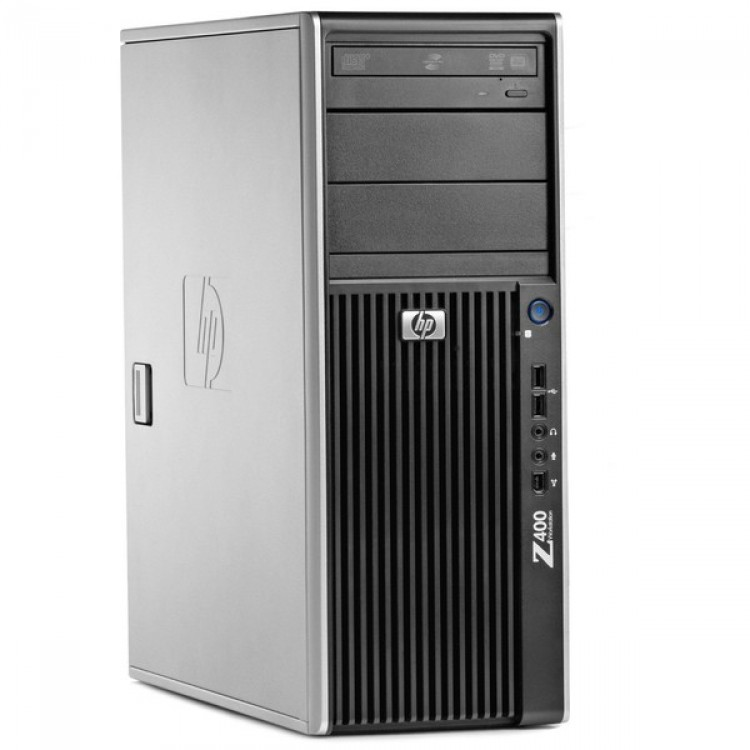 WorkStation HP Z400, Intel Xeon Quad Core W3550 3.06GHz-3.33GHz, 8GB DDR3, 500GB SATA, Placa Video nVidia Quadro 2000/1GB-128 biti, DVD-RW