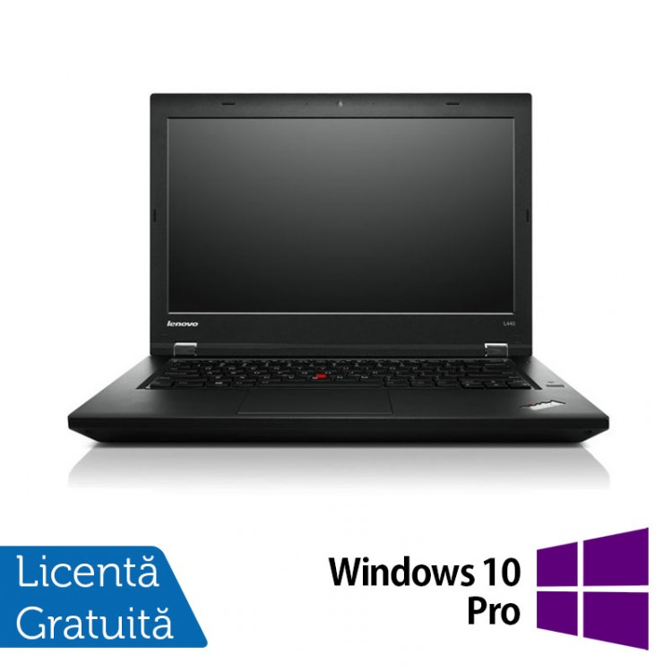 Laptop LENOVO ThinkPad L440, Intel Celeron 2950M 2.00GHz, 8GB DDR3, 320GB SATA, 14 Inch + Windows 10 Pro